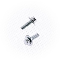 M6x1.0x20 8mm HEX HEAD FLANGE BOLT (10 PACK)WITH INTEGRATED 16MM WASHR